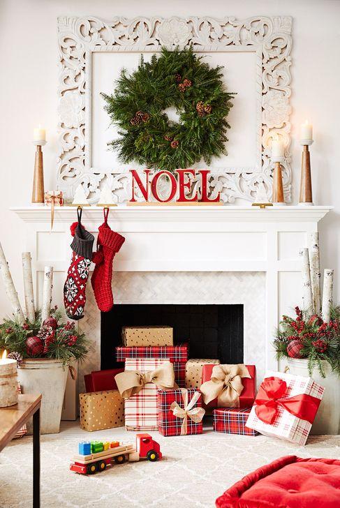 Smart Fireplace Christmas Decoration Ideas 32