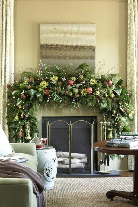 Smart Fireplace Christmas Decoration Ideas 45