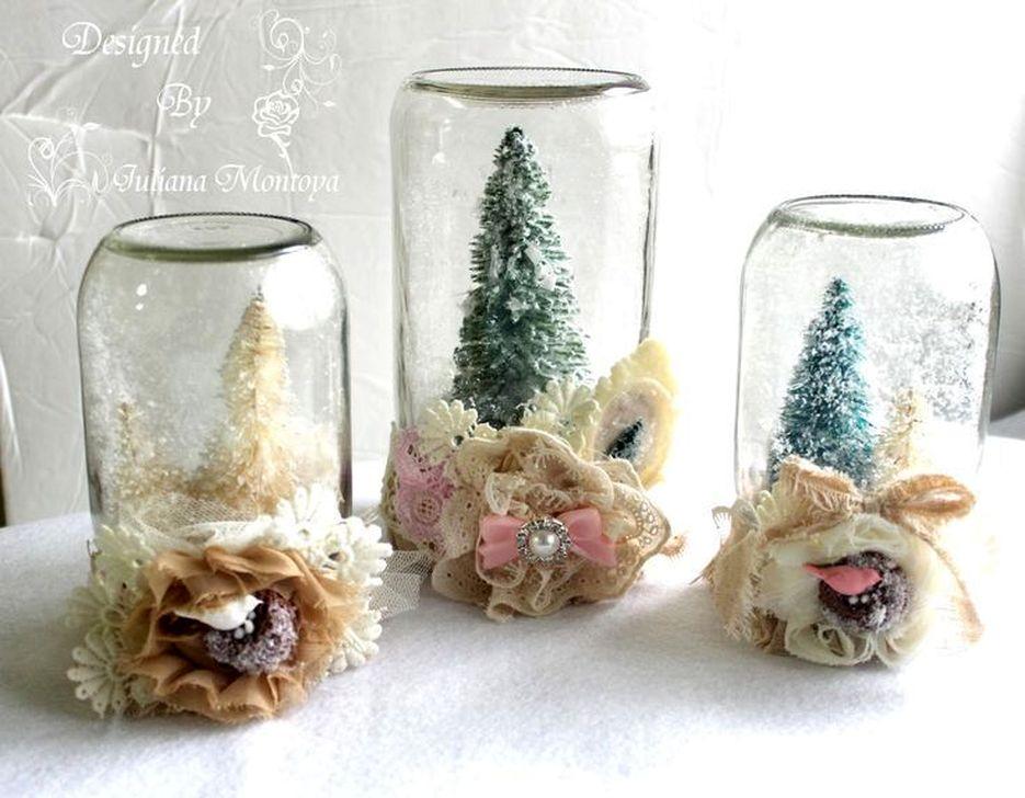 Stunning Shabby Chic Christmas Decoration Ideas 34