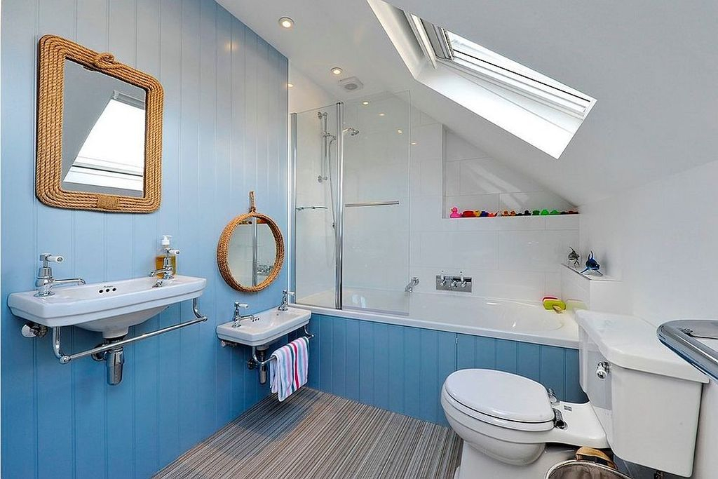 Adorable Beach Bathroom Design Ideas 41