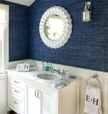 Adorable Beach Bathroom Design Ideas 44