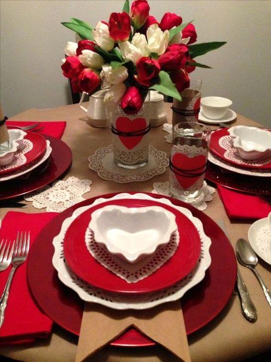 Beautiful Valentines Day Table Decoration Ideeas 53