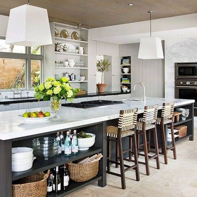 Cool Kitchen Island Design Ideas 22