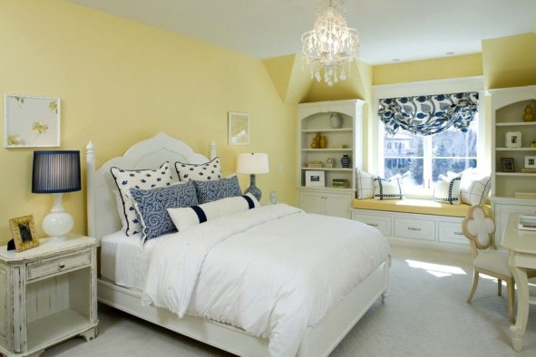 Delightful Yellow Bedroom Decoration And Design Ideas 15