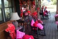 Elegant Front Porch Valentines Day Decor Ideas 35