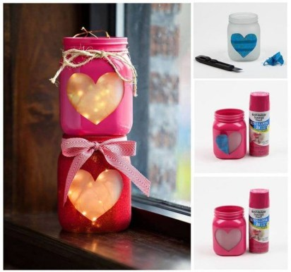 Fabulous Valentines Day Mason Jar Decor Ideas 03