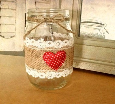 Fabulous Valentines Day Mason Jar Decor Ideas 10
