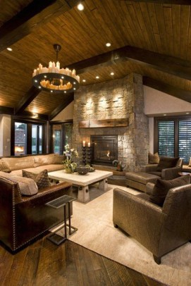 Gorgeous Winter Family Room Design Ideas 32
