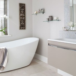 Simple But Modern Bathroom Storage Design Ideas 22