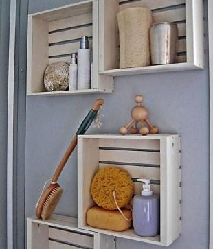 Simple But Modern Bathroom Storage Design Ideas 29