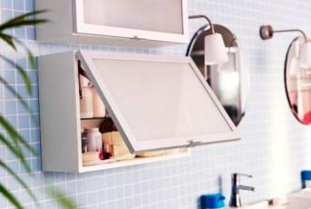 Simple But Modern Bathroom Storage Design Ideas 39