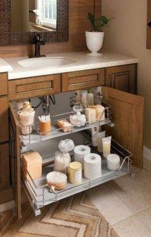 Simple But Modern Bathroom Storage Design Ideas 46