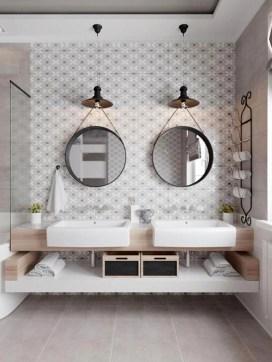 Simple But Modern Bathroom Storage Design Ideas 48