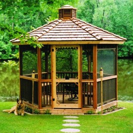 Cozy Gazebo Design Ideas For Your Backyard 08