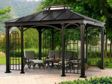 Cozy Gazebo Design Ideas For Your Backyard 24