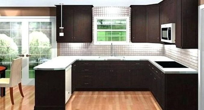 Creative U Shaped Kitchen Remodel Ideas 20