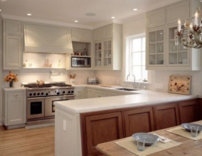 Creative U Shaped Kitchen Remodel Ideas 31