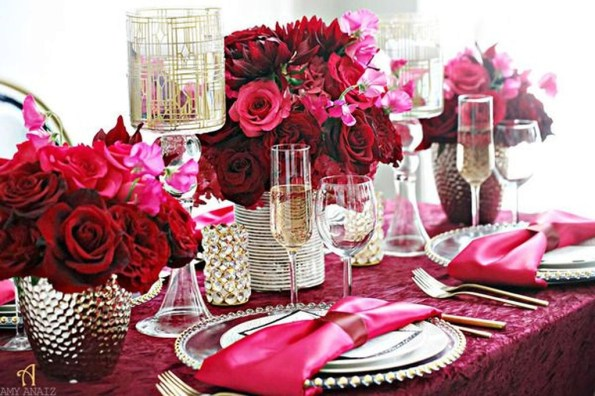 Elegant Table Settings Ideas For Valentines Day 34