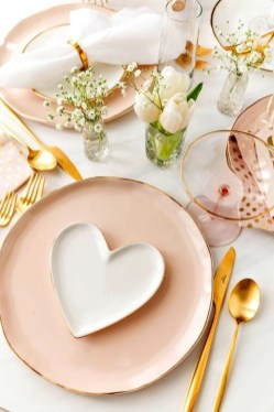 Elegant Table Settings Ideas For Valentines Day 50