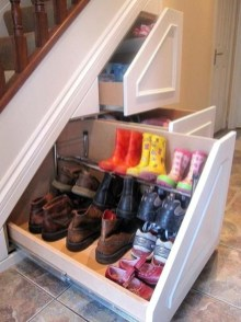Genius Storage Ideas For Under Stairs 26