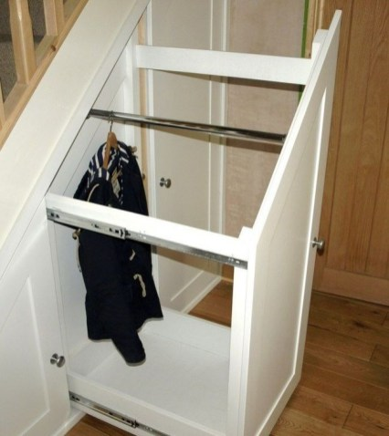Genius Storage Ideas For Under Stairs 58
