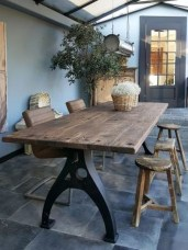 Modern And Unique Industrial Table Design Ideas 01