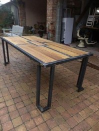 Modern And Unique Industrial Table Design Ideas 39