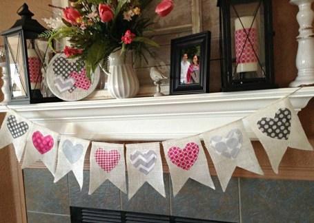 Simple DIY Valentines Day Decor Ideas 26