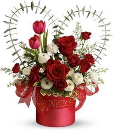 50 Stunning Valentine Floral Arrangements Ideas Homystyle