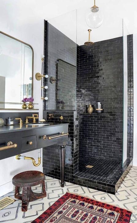 The Best Ideas Black Shower Tiles Design 06