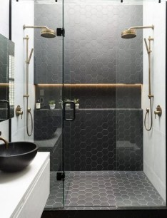 The Best Ideas Black Shower Tiles Design 19