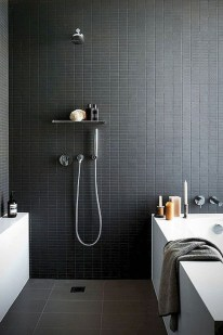 The Best Ideas Black Shower Tiles Design 31