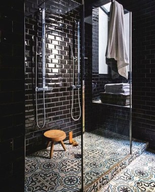 The Best Ideas Black Shower Tiles Design 45
