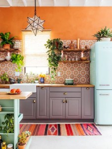 Unique And Colorful Kitchen Design Ideas 21