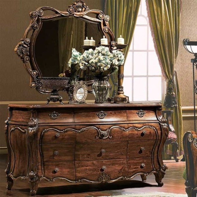 Classy Bedroom Dressers Ideas With Mirror 17