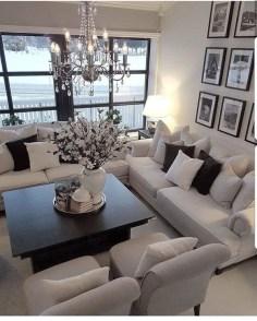 Cozy Black And White Living Room Design Ideas 15