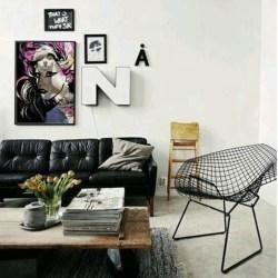 Cozy Black And White Living Room Design Ideas 24