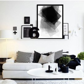 Cozy Black And White Living Room Design Ideas 42