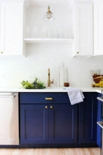Elegant Navy Kitchen Cabinets For Decorating Your Kitchen 21