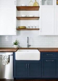 Elegant Navy Kitchen Cabinets For Decorating Your Kitchen 22