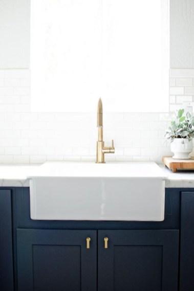 Elegant Navy Kitchen Cabinets For Decorating Your Kitchen 23