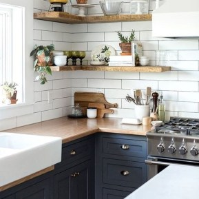 Elegant Navy Kitchen Cabinets For Decorating Your Kitchen 26