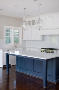 Elegant Navy Kitchen Cabinets For Decorating Your Kitchen 27