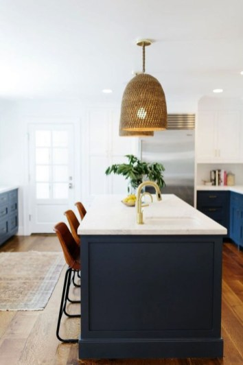 Elegant Navy Kitchen Cabinets For Decorating Your Kitchen 30