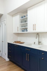 Elegant Navy Kitchen Cabinets For Decorating Your Kitchen 45