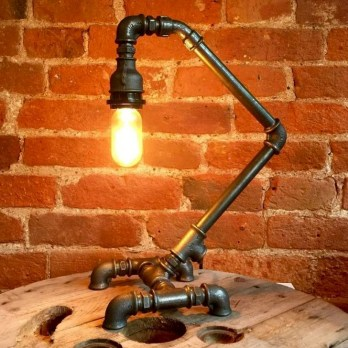 Fascinating Industrial Pipe Lamp For Home 06