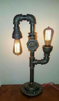 Fascinating Industrial Pipe Lamp For Home 09