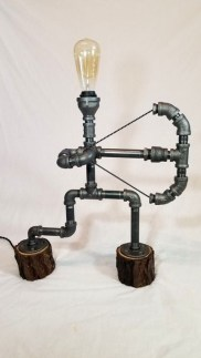 Fascinating Industrial Pipe Lamp For Home 13