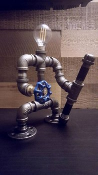Fascinating Industrial Pipe Lamp For Home 16