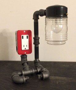 Fascinating Industrial Pipe Lamp For Home 37